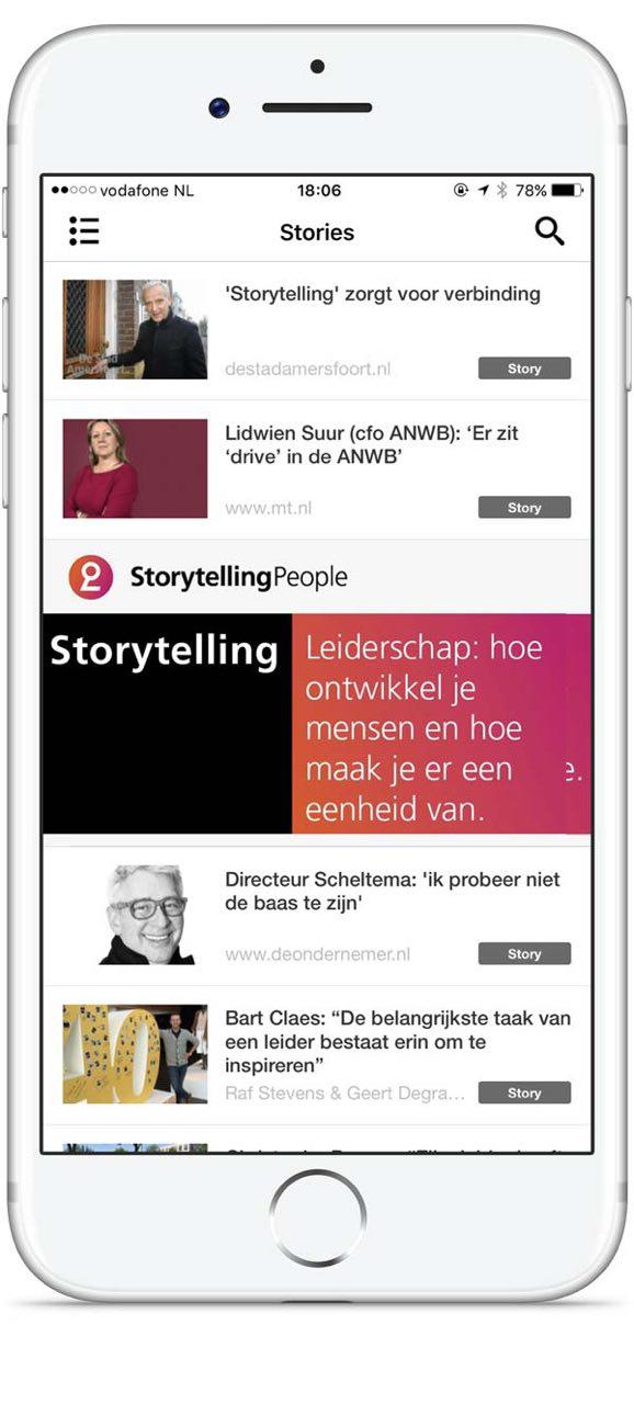 Storytelling People app screenshot
